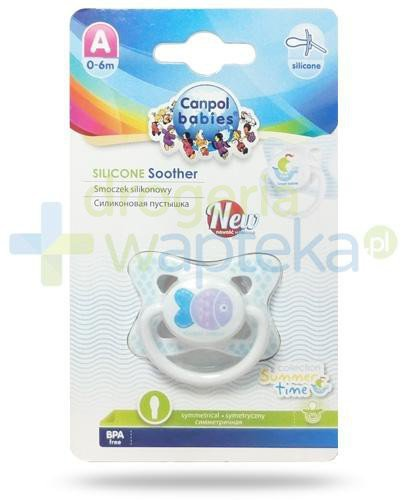 Canpol Babies smoczek silikonowy symetryczny 0-6m kolekcja wakacyjna [23/460]