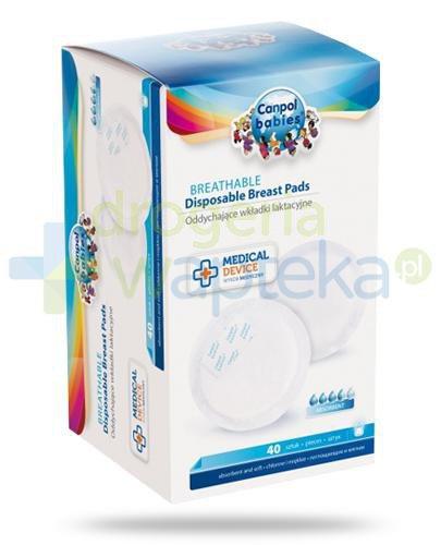 Canpol Babies Standard oddychające wkładki laktacyjne 40 sztuk [1/651_med]