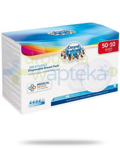 Canpol Babies Standard oddychające wkładki laktacyjne 60 sztuk [1/652]  whited-out