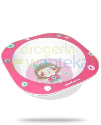 Canpol Babies Toys melaminowa miska laleczka 230 ml dla dzieci 4m+ [4/522_pin]
