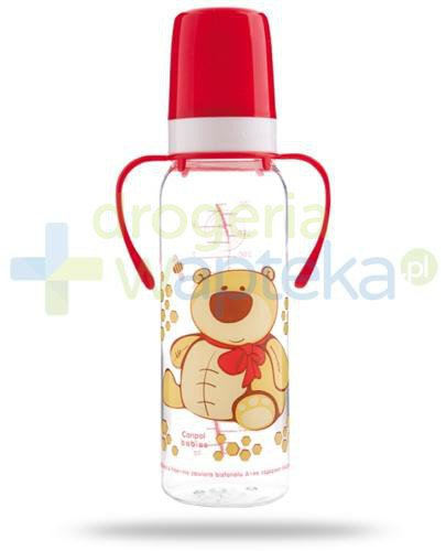 Canpol Babies Wesołe zwierzaki butelka tritanowa z uchwytami 250 ml [11/845]