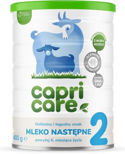 CapriCare 2 mleko następne powyżej 6 miesiąca oparte na mleku kozim 400 g