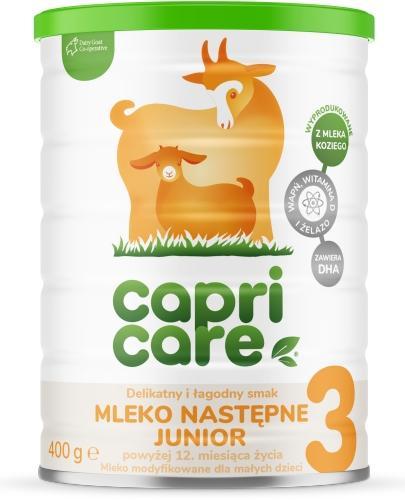 CapriCare 3 Junior mleko następne powyżej 12 miesiąca życia oparte na mleku kozim 400 ...