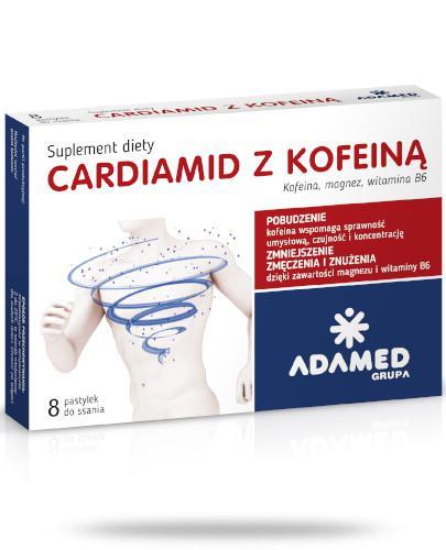 Cardiamid z kofeiną smak cytrusowy 8 pastylek do ssania
