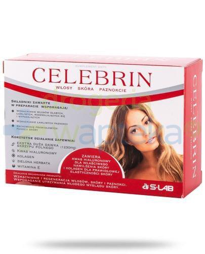 Celebrin włosy skóra paznokcie 60 tabletek  whited-out