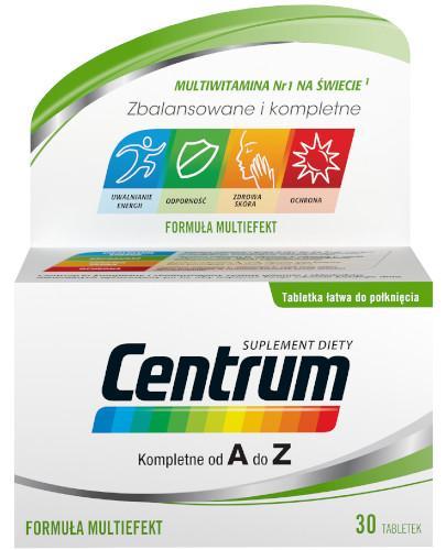 Centrum AZ Multiefekt witaminy i minerały 30 tabletek [Nowa formuła]