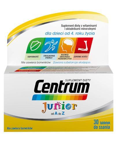Centrum Junior witaminy i minerały dla dzieci 30 tabletek