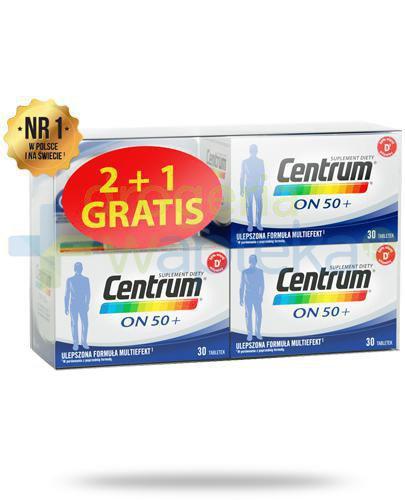 Centrum On 50+ Multiefekt witaminy i minerały dla mężczyzn 3x 30 tabletek [UMF] [ZESTA...