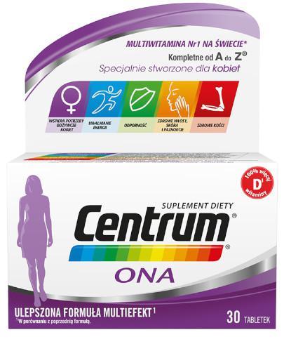 Centrum Ona Multiefekt witaminy i minerały dla kobiet 30 tabletek [UMF]