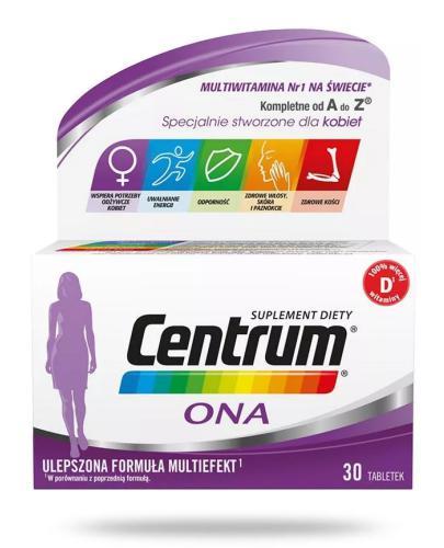 Centrum Ona Multiefekt witaminy i minerały dla kobiet 30 tabletek