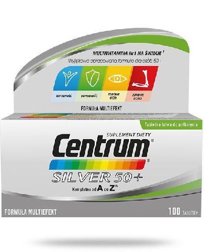 Centrum Silver 50+ Multiefekt witaminy i minerały dla seniorów 100 tabletek