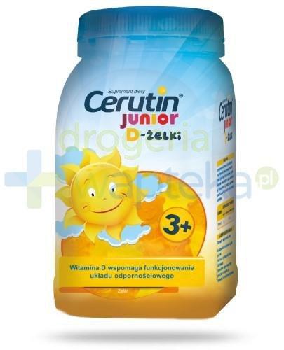 Cerutin Junior D-żelki o smaku owocowym dla dzieci 3+ 240 g [Data ważności 13-01-2020]