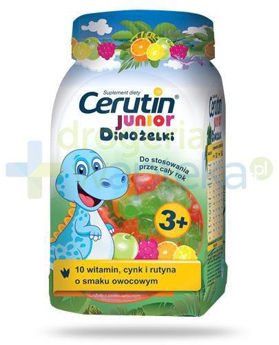 Cerutin Junior Dinożelki żelki o smaku owocowym dla dzieci 3+ 240 g