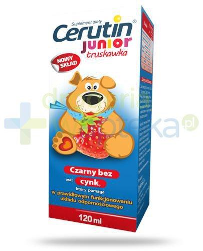 Cerutin Junior syrop truskawkowy 120 ml