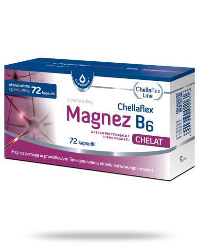 Chellaflex Magnez B6 72 kapsułki