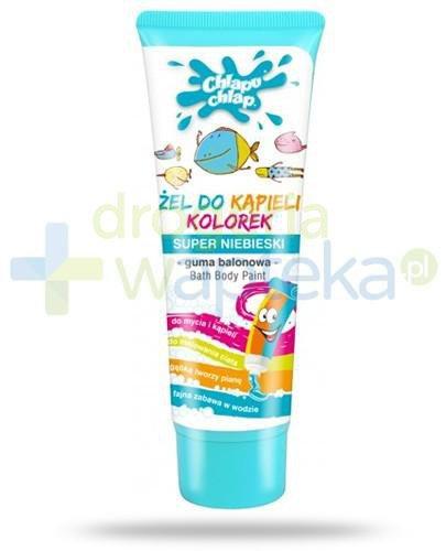 Chlapu Chlap Kolorek żel do mycia i kąpieli niebieski o zapachu gumy balonowej 88 ml