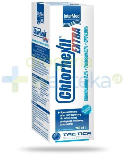 Chlorhexil Extra specjalistyczny płyn do płukania jamy ustnej 250 ml  whited-out