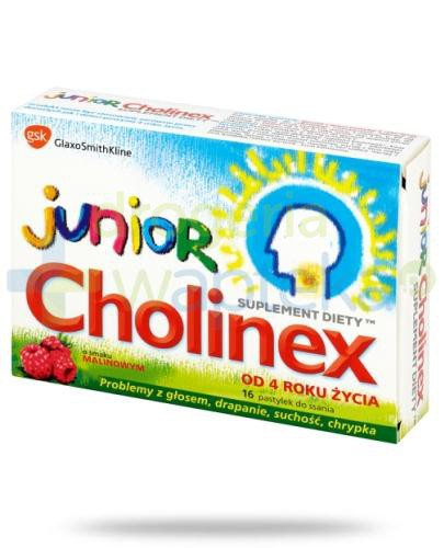 Cholinex Junior pastylki do ssania na ból gardła - 16 sztuk