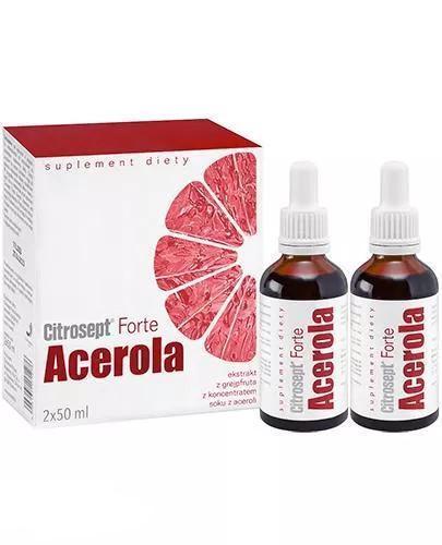 Citrosept Forte Acerola ekstrakt z grejpfruta z koncentratem aceroli krople 2 x 50 ml