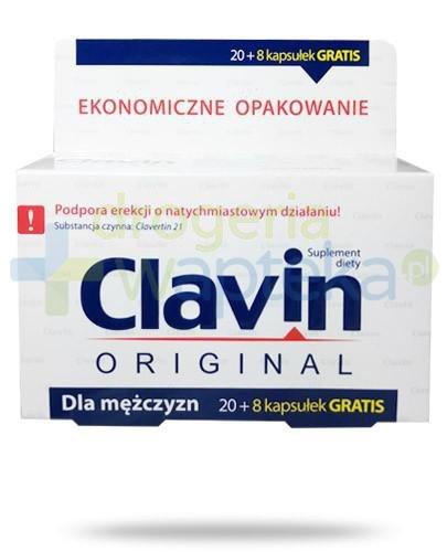 Clavin Original na wzmocnienie erekcji 28 kapsułek  whited-out