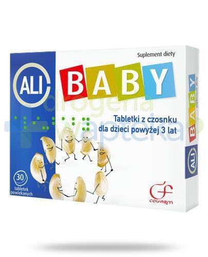 Colfarm Ali-Baby czosnek dla dzieci 3+ 30 tabletek powlekanych