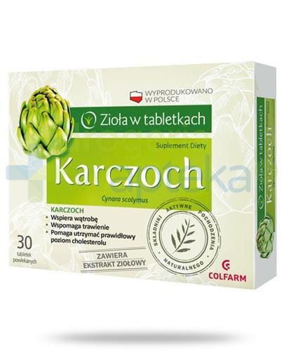 Colfarm Karczoch zioła w tabletkach 30 sztuk