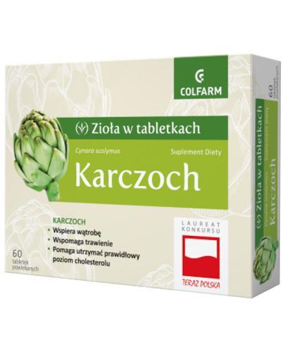 Colfarm Karczoch zioła w tabletkach 60 sztuk