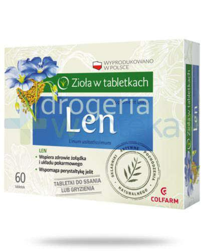 Colfarm Len 60 tabletek do ssania