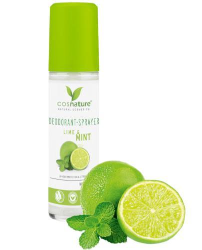 Cosnature naturalny dezodorant w sprayu z limonką i mięta 75 ml