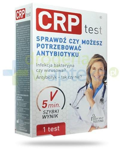 CRP test do odróżnienia zakażeń bakteryjnych i wirusowych 1 sztuka [Data ważności 30-10-2018]
