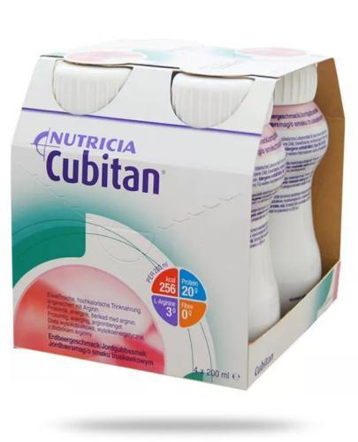 Cubitan o smaku truskawkowym płyn odżywczy 4 x 200 ml