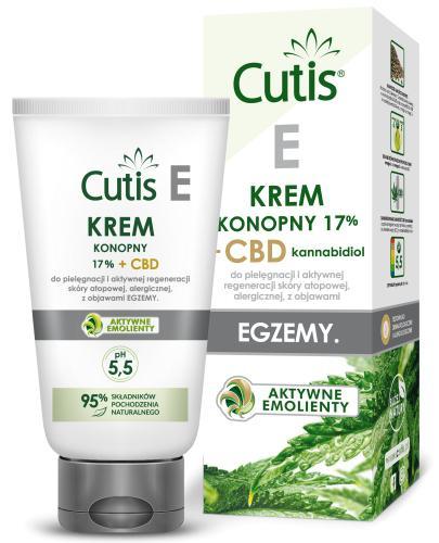 Cutis E krem konopny 17% + CBD do pielęgnacji i aktywnej regeneracji skóry atopowej, ale...