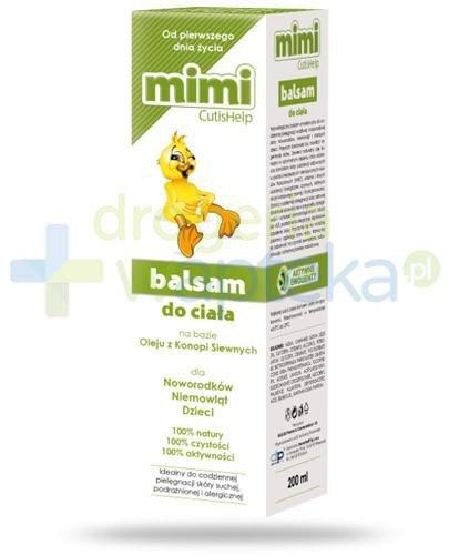 CutisHelp Mimi balsam do ciała na bazie konopii siewnych 200 ml  whited-out
