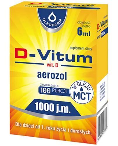 D-Vitum 1000 witamina D w aerozolu dla dzieci 1+ 6 ml
