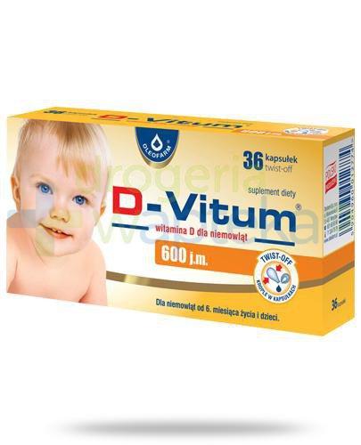 D-Vitum 600j.m. witamina D dla dzieci 6m+ 36 kapsułek