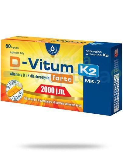 D-Vitum Forte 2000j.m. K2 witamina D i K dla dorosłych 60 kapsułek