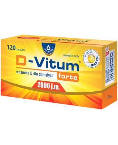 D-Vitum Forte 2000j.m. witamina D dla dorosłych 120 kapsułek