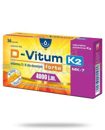 D-Vitum Forte 4000j.m. K2 witamina 36 kapsułek
