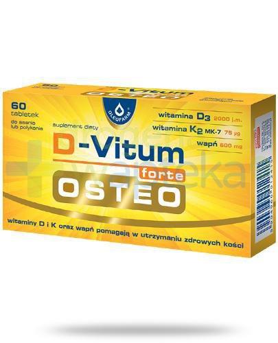 D-Vitum Forte Osteo o smaku cytrynowym 60 kapsułek