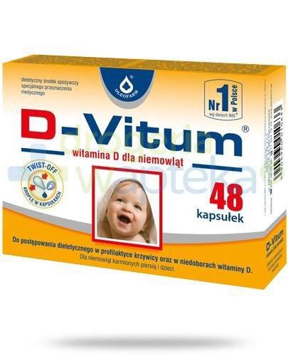 D-Vitum witamina D dla niemowląt 48 kapsułek