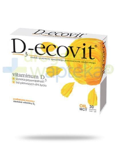 D3-Ecovit 2000j.m. 60 kapsułek  whited-out