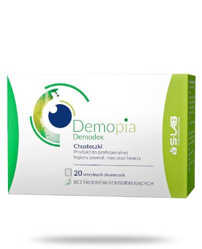Demopia Demodex chusteczki do profesjonalnej higieny powiek, rzęs oraz twarzy 20 sztuk