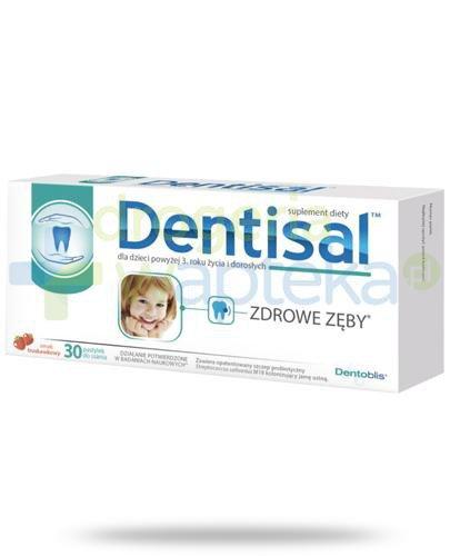 Dentisal Zdrowe zęby smak truskawkowy 30 pastylek do ssania