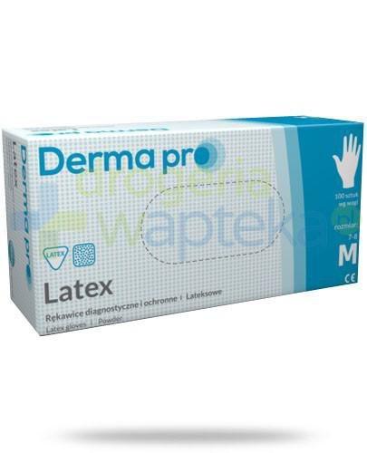 DermaPro Latex rękawice diagnostyczne lateksowe niejałowe pudrowane rozmiar M 100 sztuk