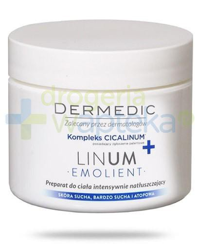 Dermedic Emolient Linum preparat do ciała intensywnie natłuszczający z kompleksem Cical...
