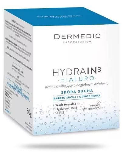 Dermedic Hydrain 3 Hialuro krem nawilżający o dogłębnym działaniu do twarzy 50 g
