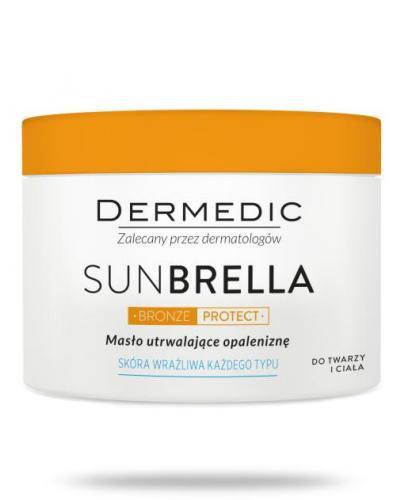 Dermedic Sunbrella Bronze Protect masło utrwalające opaleniznę do twarzy i ciała do sk...