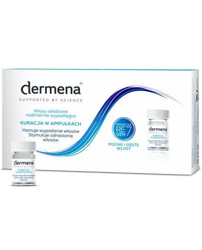 Dermena Hair Care kuracja w ampułkach hamująca wypadanie włosów 15x 5 ml