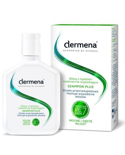 Dermena Plus szampon do włosów z łupieżem, nadmiernie wypadających 200 ml