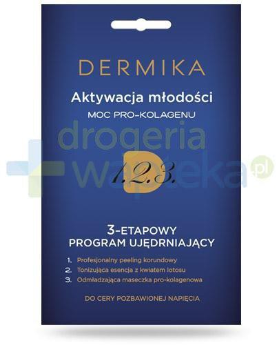Dermika Aktywacja młodości moc pro-kolagenu 3-etapowy program ujędrniający do cery poz...